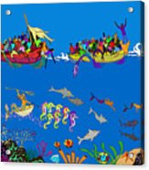 Agwe Acrylic Print by Dimitri Beaulieu
