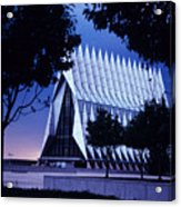Air Force The Cadet Chapel Acrylic Print by GerMaine Photography