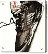 Air Jordan Acrylic Print by Robert Morin