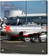 Airbus A320-232 Acrylic Print by Tim Beach