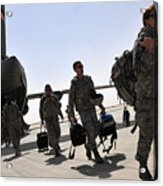 Airmen Arrive In Iraq In Support Acrylic Print by Stocktrek Images