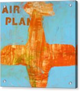 Airplane Acrylic Print by Laurie Breen