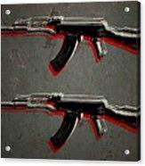 Ak47 Assault Rifle Pop Art Acrylic Print by Michael Tompsett