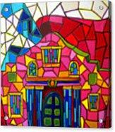 Alamo Mosaic Two Acrylic Print by Patti Schermerhorn