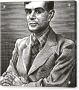 Alan Turing, British Mathematician Acrylic Print by Bill Sanderson