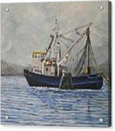 Alaskan Fishing Acrylic Print by Reb Frost