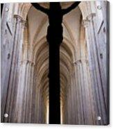Alcobaca Monastery Church Crucifix Acrylic Print by Jose Elias - Sofia Pereira