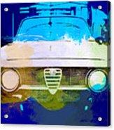 Alfa Romeo Watercolor Acrylic Print by Naxart Studio
