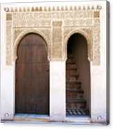 Alhambra Door And Stairs Acrylic Print by Jane Rix