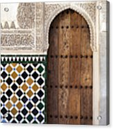 Alhambra Door Detail Acrylic Print by Jane Rix