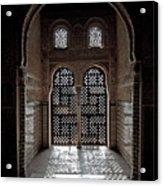 Alhambra Window Acrylic Print by Jane Rix