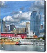 All American City Acrylic Print by Mel Steinhauer