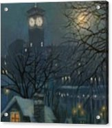 Allen Bradley Clock Milwaukee Acrylic Print by Tom Shropshire