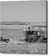 Allis-chalmers Tractor Acrylic Print by Troy Montemayor