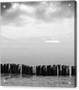 Along The Breakwater Acrylic Print by Wim Lanclus