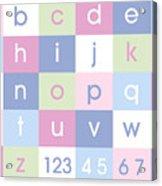 Alphabet Pastel Acrylic Print by Michael Tompsett