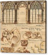 Altar Screen Beverly Minster East Riding Yorkshire England 1883 Acrylic Print by Gibbons Sankley