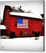 American Barn Acrylic Print by Bill Cannon