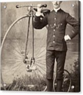 American Bicyclist, 1880s Acrylic Print by Granger