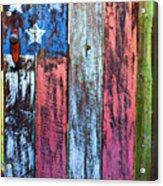 American Flag Gate Acrylic Print by Garry Gay
