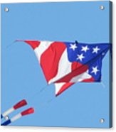 American Flag Kite Acrylic Print by Gregory Smith