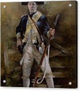 American Infantryman C.1777 Acrylic Print by Chris Collingwood