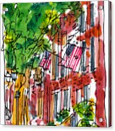 American Street Philadelphia Acrylic Print by Marilyn MacGregor
