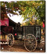 Amish Farm Wagon Acrylic Print by Terril Heilman