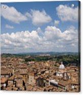 An Aerial Of Sienna, Tuscany Acrylic Print by Joel Sartore