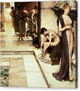 An Apodyterium Acrylic Print by Sir Lawrence Alma-Tadema