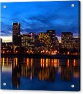An Evening In Portland Acrylic Print by Brian Bonham