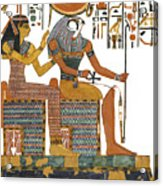 Ancient Egyptian Gods Hathor And Re Acrylic Print by Ben  Morales-Correa