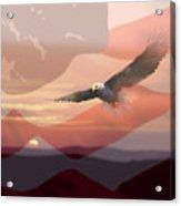 And The Eagle Flies Acrylic Print by Paul Sachtleben