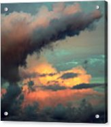 And The Thunder Rolls Acrylic Print by Karen Wiles