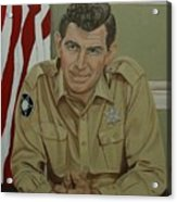 Andy Griffith Acrylic Print by Tresa Crain