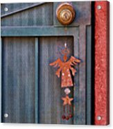 Angel At The Door Acrylic Print by Carol Leigh