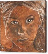 Angel In Process Head Detail Acrylic Print by Richard Hoedl