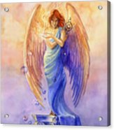 Angel Of Truth And Illusion Acrylic Print by Janet Chui