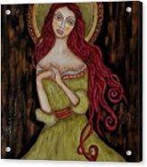 Angela Acrylic Print by Rain Ririn