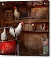 Animal - Chicken - The Duck Is A Spy  Acrylic Print by Mike Savad