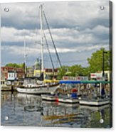 Annapolis Maryland City Dock Ego Alley Acrylic Print by Brendan Reals