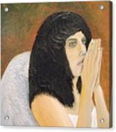 Annolita Praying Acrylic Print by J Bauer