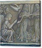Annunciation - Existing Fragment Acrylic Print by Anna Folkartanna Maciejewska-Dyba