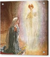 Annunciation Acrylic Print by William Brassey Hole