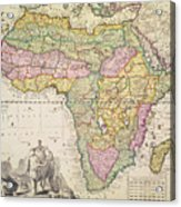 Antique Map Of Africa Acrylic Print by Pieter Schenk