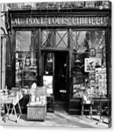 Antique Shop Paris France Acrylic Print by Gerry Walden