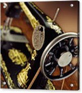 Antique Singer Sewing Machine 3 Acrylic Print by Kelley King