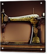 Antique Singer Sewing Machine Acrylic Print by Kelley King