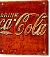 Antique Soda Cooler 3 Acrylic Print by Stephen Anderson