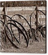 Antique Wagon Wheels I Acrylic Print by Tom Mc Nemar